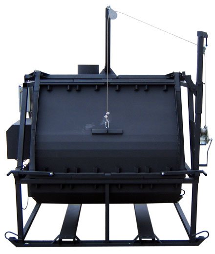 Phoenix Model 6045 animal carcus incinerator. Safely dispose of infected poultry and other animals.